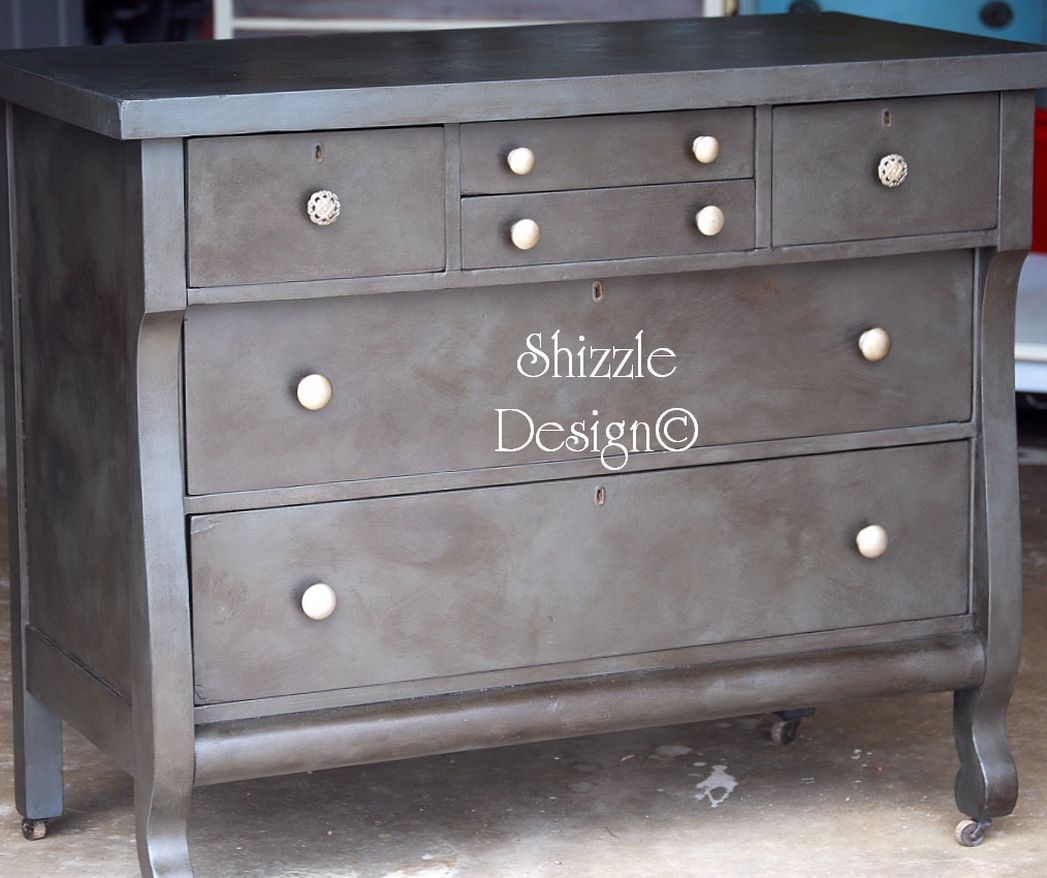 Completely new Shizzle Design | Antique Empire Dresser with a Rich Weathered  AN15