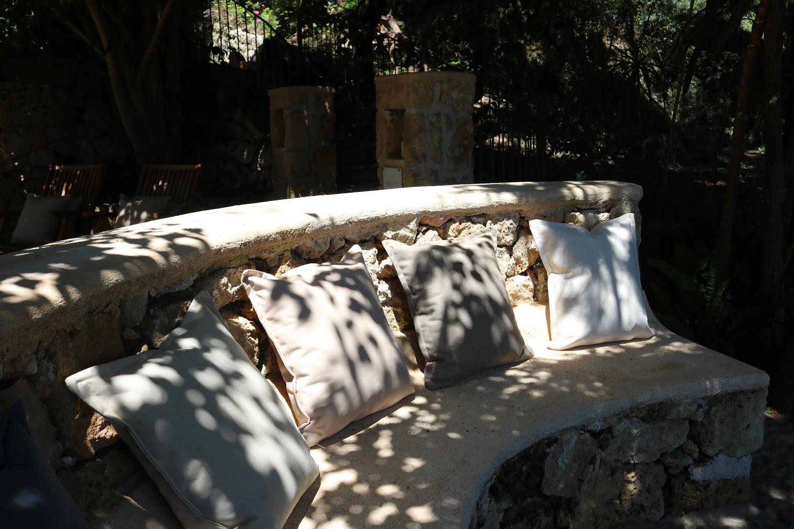Cushioned sofa, F Zeen Resort, Unique Villas, Kefalonia