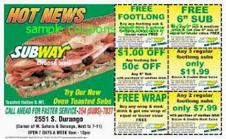free Subway coupons february 2017