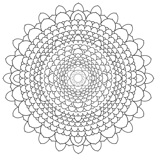 Free Printable Mandalas For Adults  Difficult Mandala Coloring Pages