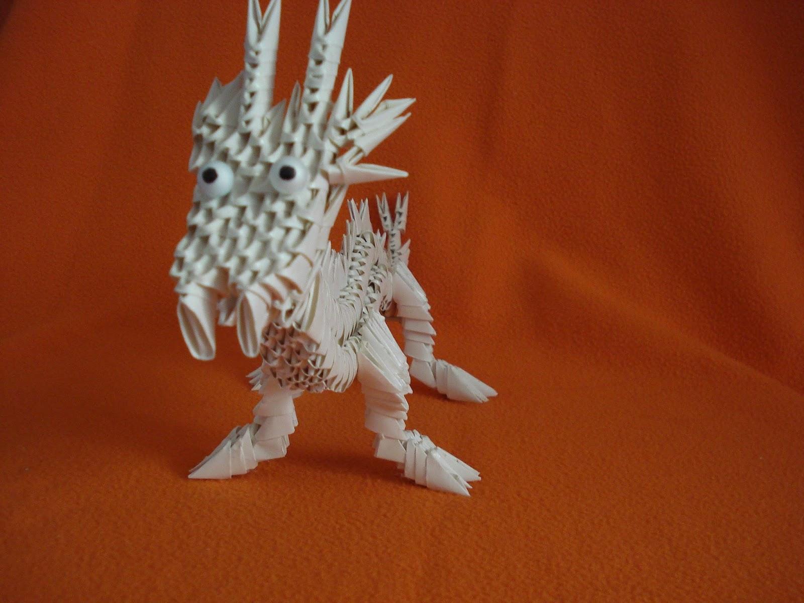 MANUALIDADES Y OTROS ENTRETENIMIENTOS: Dragón. Origami 3d - photo#26