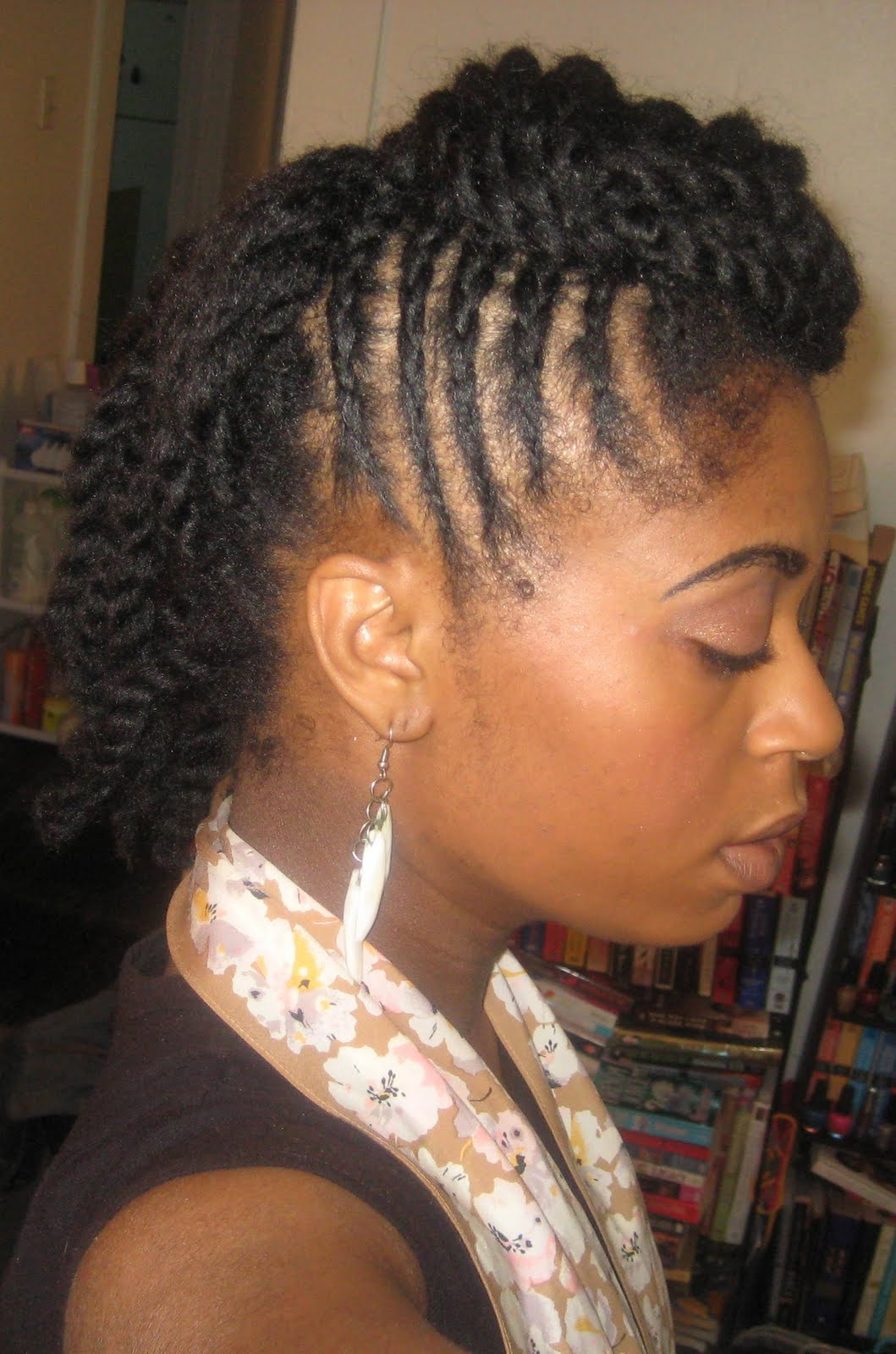 Fine Naturally Elegant Hairstyle Side Cornrows And Large Twists Short Hairstyles Gunalazisus