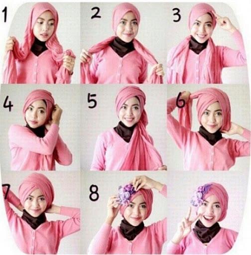 tutorial hijab segi empat untuk wisuda terbaru
