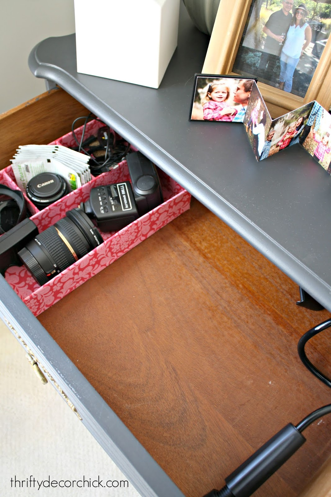 Decluttering and organizing office supplies