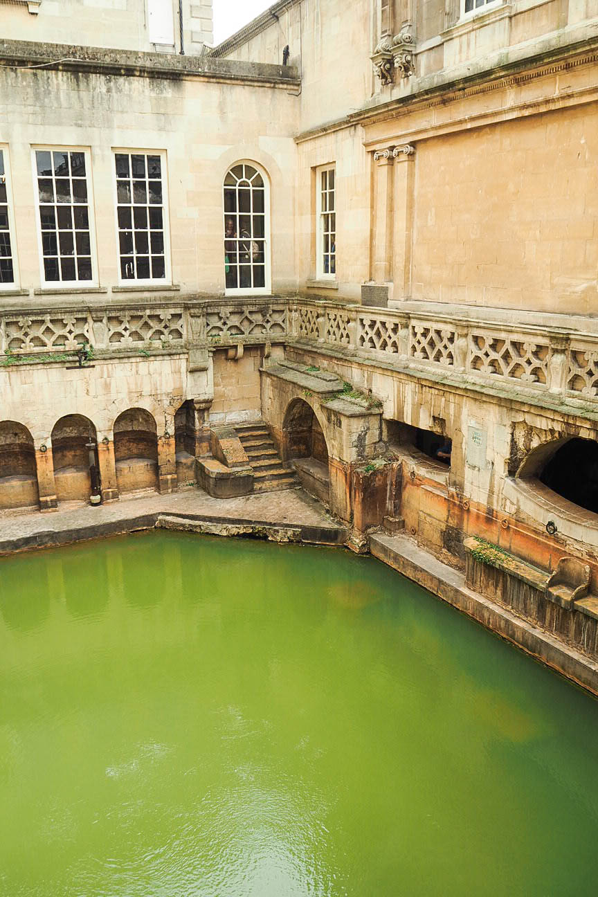 Thermal water in Roman Baths, Bath