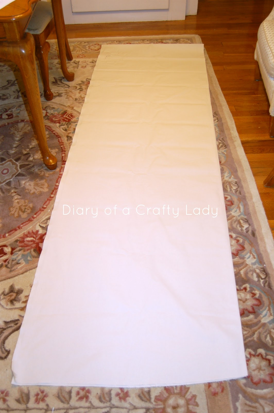 Diary of a crafty lady diy canvas growth chart i cut the entire length of the fabricl 8 feet at 10 wide to make a long strip for the growth chart i then used a zig zag stitch to sew along nvjuhfo Image collections