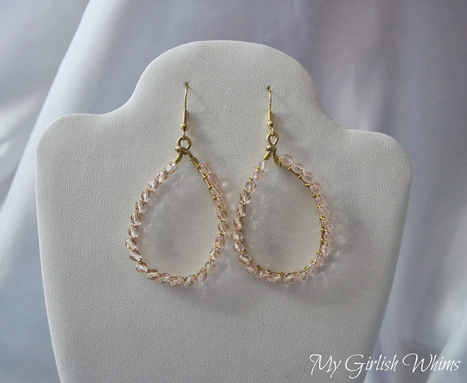 Diy Wire Wrapped Teardrop Earrings My Girlish Whims