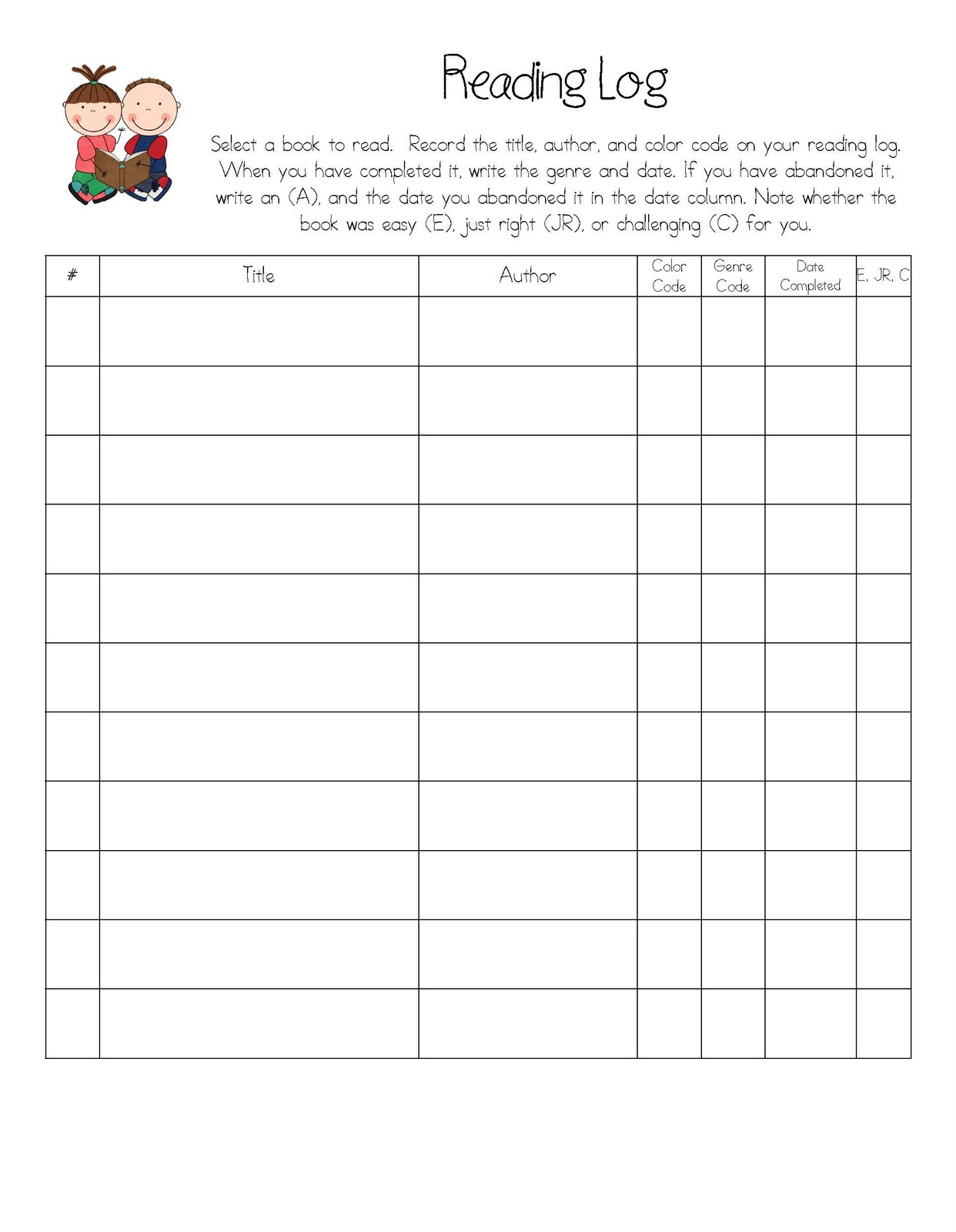 Daily Reading Log Template. 1st Grade Reading Street Worksheets. View ...