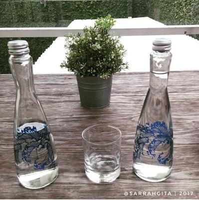 air mineral kemasan botol kaca