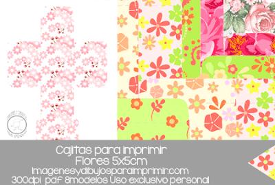 Cajas decoradas con flores para imprimir