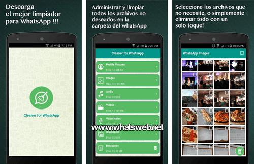 Ahorra espacio en tu telefono con la app Limpiador de WhatsApp