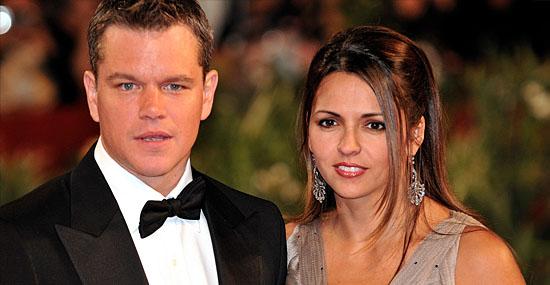 15 fãs que se casaram com seus ídolos - Matt Damon e Luciana Bozan