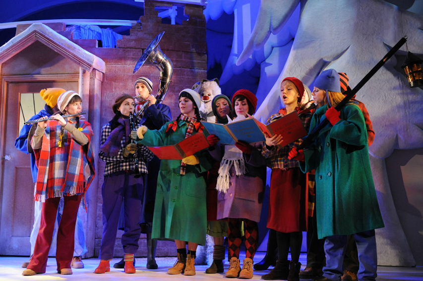 Carol singers at The Snowman Peacock Theatre