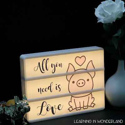 Cute light box designs that you can customize!