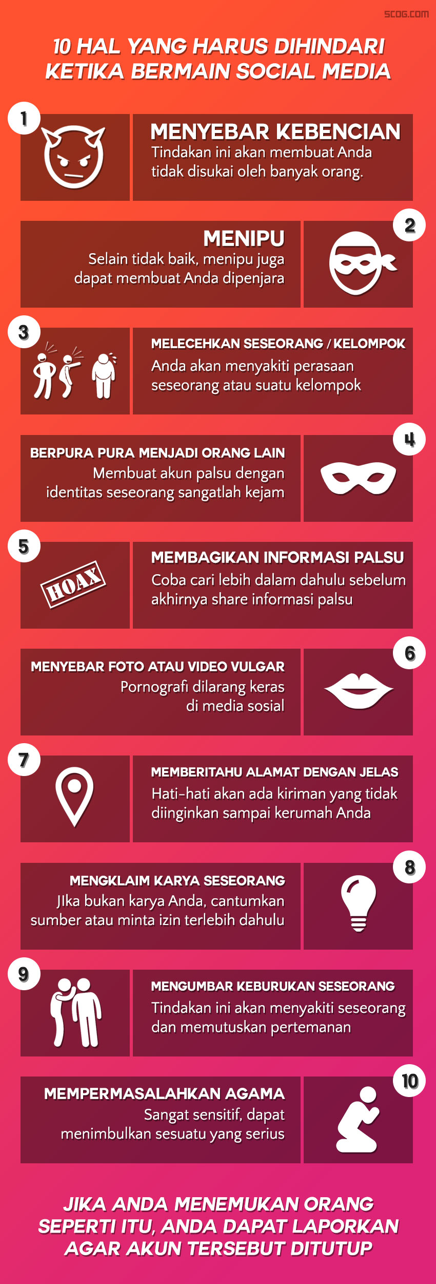 10 hal yang harus dihindari ketika bermain social media
