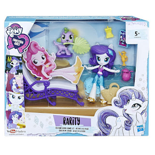 My Little Pony Equestria Girls Minis Rarity Relaxing Beach Lounge Set