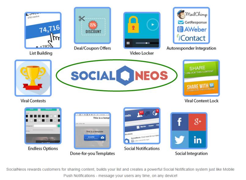 [GIVEAWAY] SocialNeos [Viral Social Sharing/Locking Content]