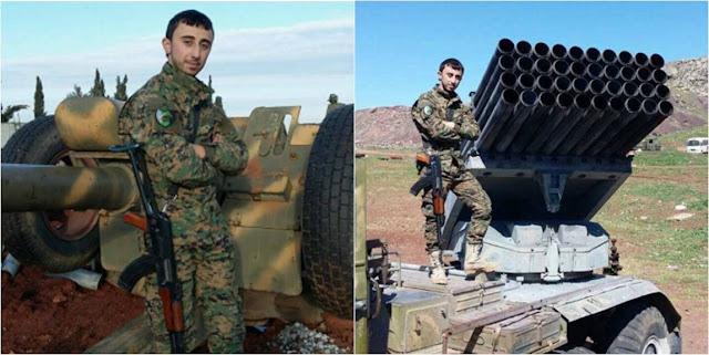 Πυροβόλο και εκτοξευτής «Grad» της Ταξιαρχίας «Ισλαμική Αντίσταση στη Συρία»