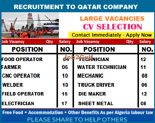 Offshore Recruitment To Qatar Company Apply Now Job2gulf