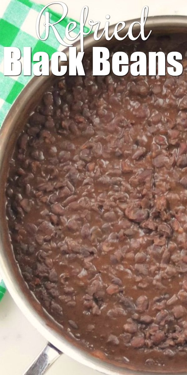 How to make Refried Black Beans recipe from scratch. A favorite Mexican Side Dish recipe from Serena Bakes Simply From Scratch.