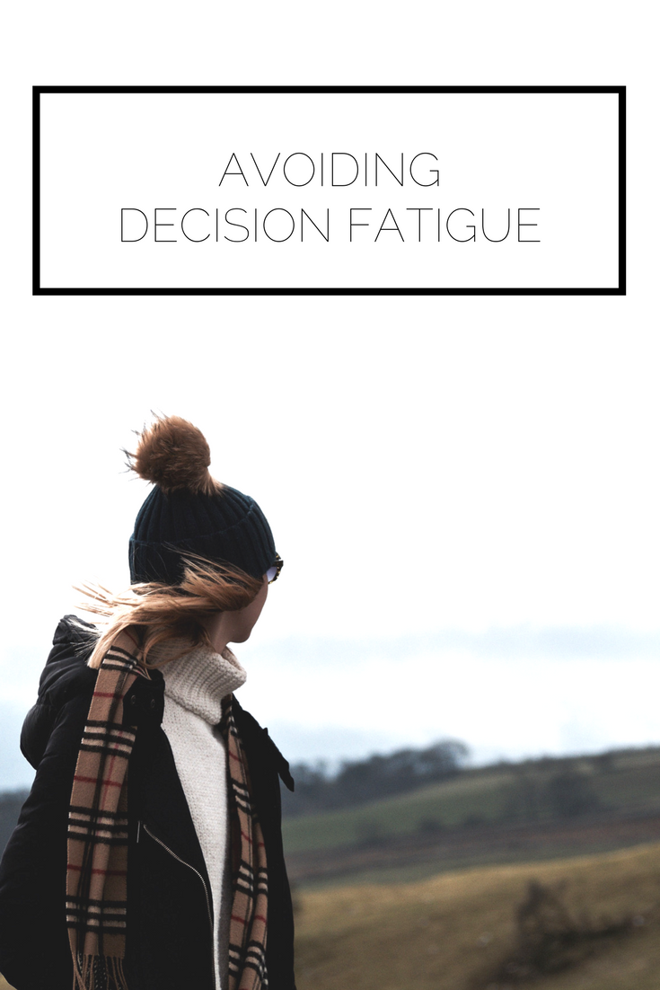 Take a look now or pin to save for later! When we have countless decisions to make in a day it's no wonder we get overwhelmed. Learn about decision fatigue and how to avoid it