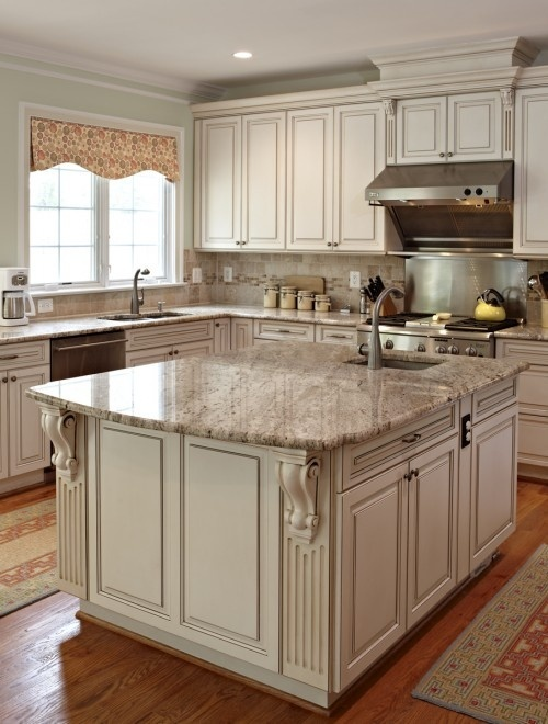Antique White Cabinets How To Paint Antique White Kitchen Cabinets - Step By Step
