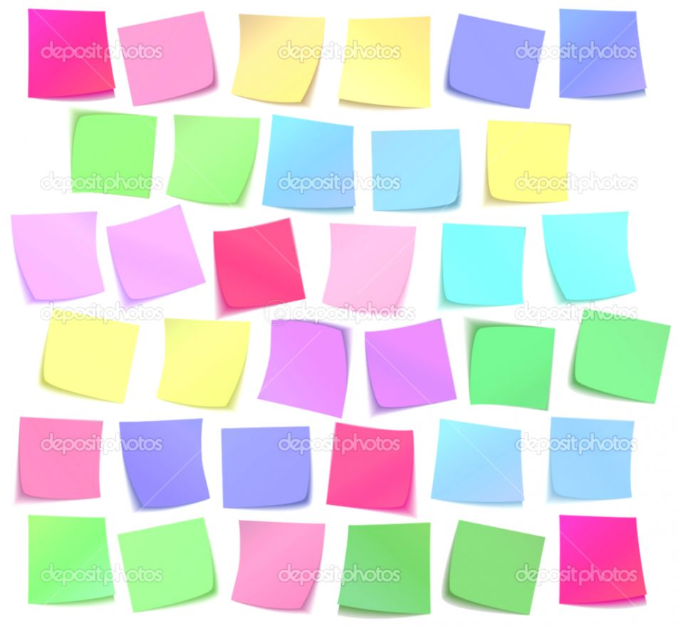 Color Sticky Notes Wallpaper Wallpaper Background HD