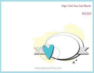 Paper Craft Crew Card Sketch Challenge #PCC329 from Mitosu Crafts