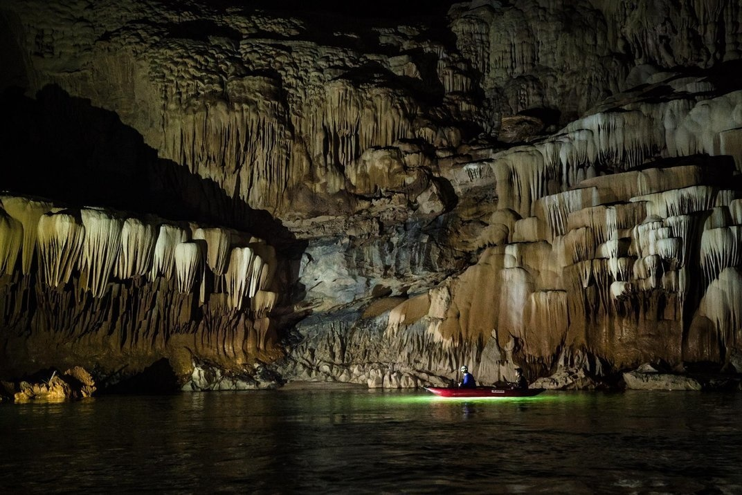 Deboodt brought various cameras and equipment to capture these images -- he even used a drone to get some of the footage. - He Kayaked Through The World's Largest River Cave. This Is What He Saw…