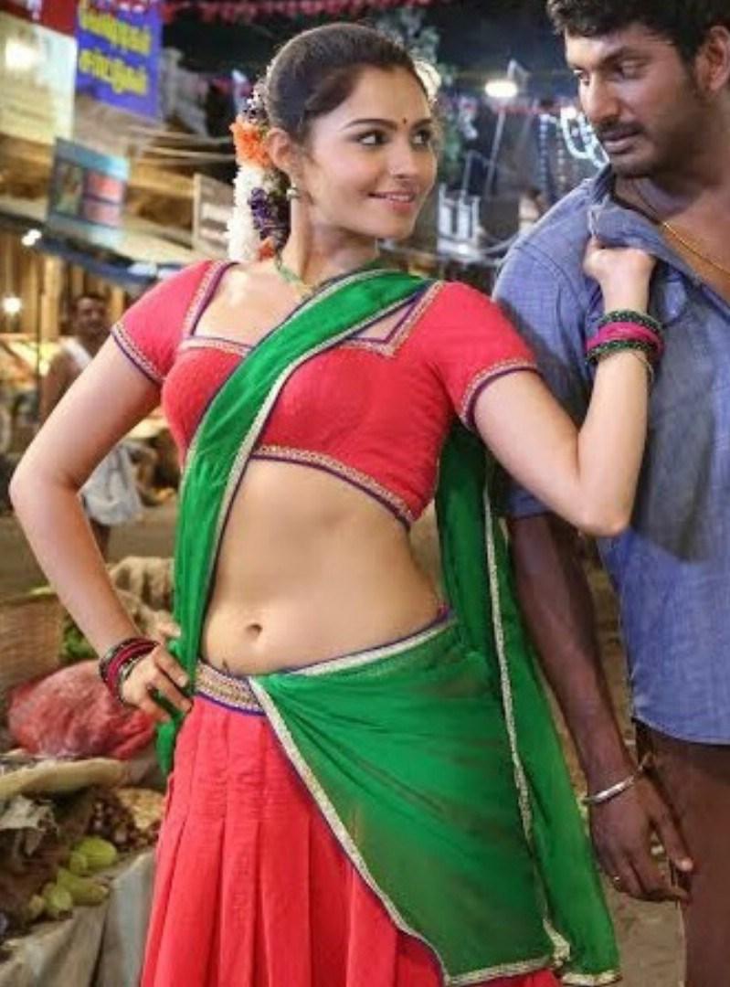 Andriya Hot Images andrea jeremiah sexy navel show photos in half saree