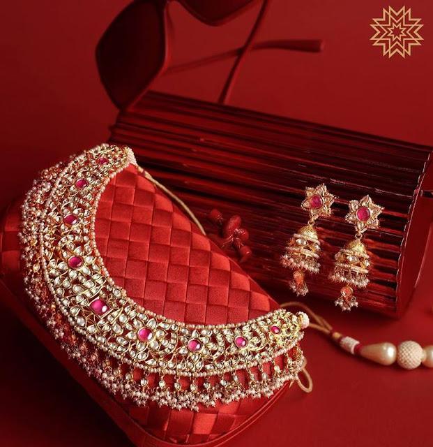 Kundan Bridal Chokers by Manubhai Jewellers