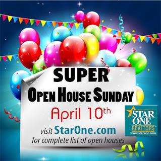SuperOpenSunday FB%2Bgraphic - Star One Realtors' are holding Super Open House Sunday, April 10