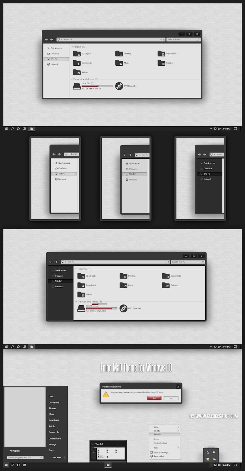 Enino Mad Theme For Windows 10