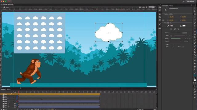Tampilan adobe animate CC versi terbaru