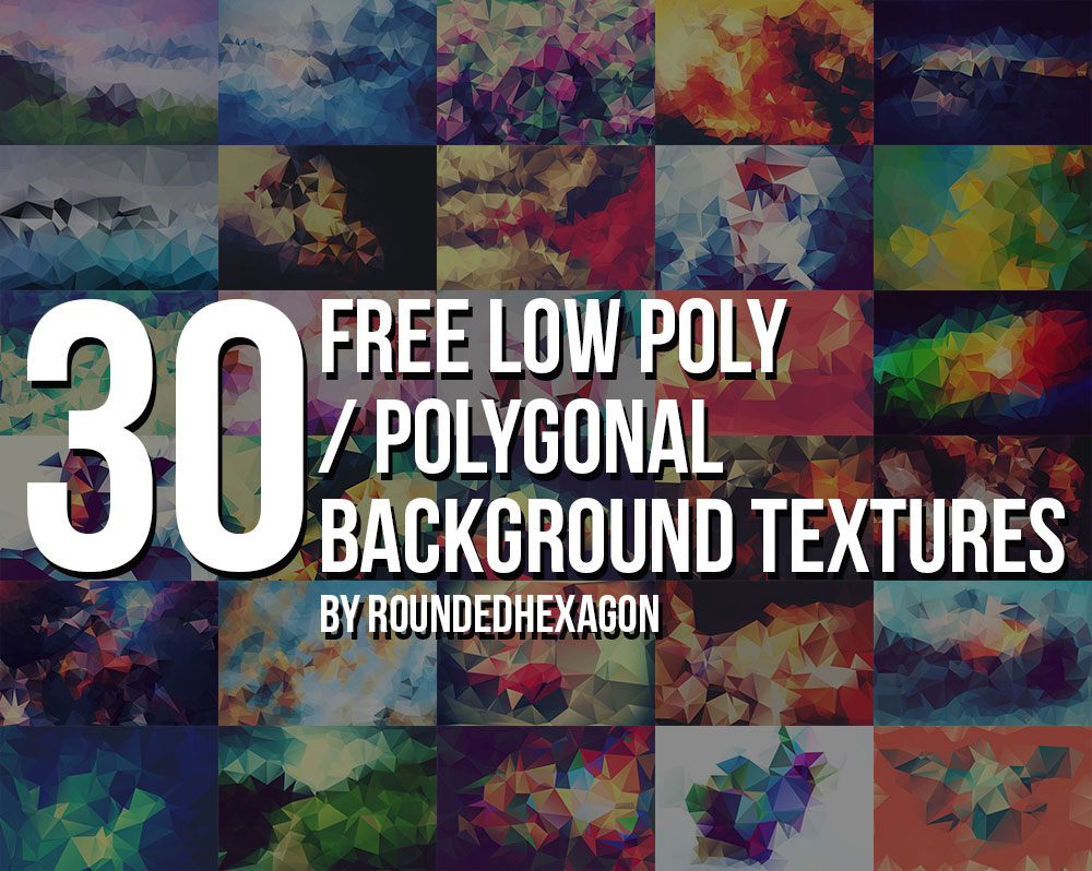 30 Free Polygonal / Low Poly Background
