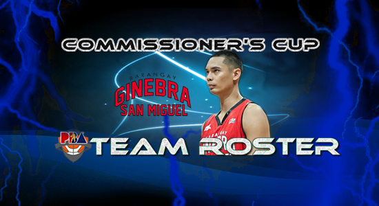 List of Brgy. Ginebra San Miguel Roster (Lineup) 2017 PBA Commissioner's Cup
