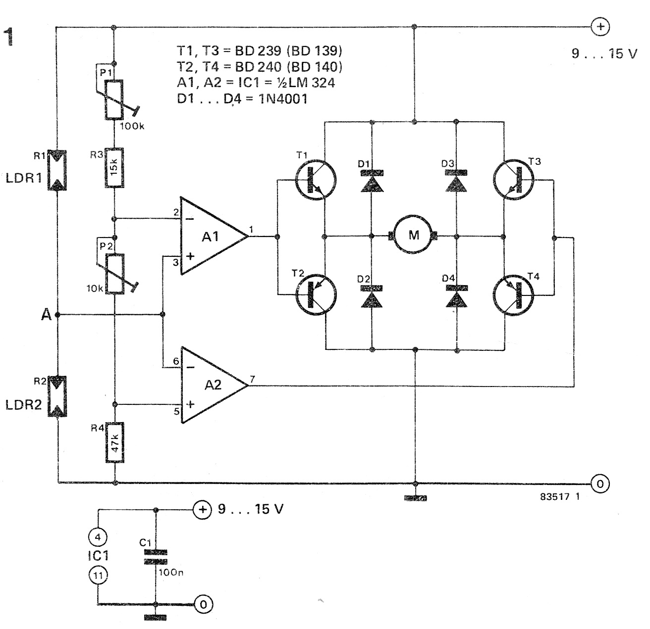medium resolution of how to make a simple solar tracker circuit dual axis