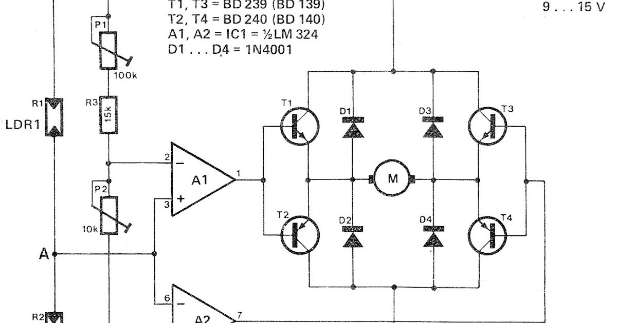 simple solar tracker circuit diagram image