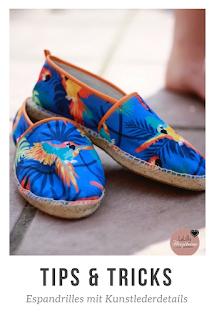Schuhe selber zu machen scheint für Hobbyschneider fast unmöglich. Aber es geht! Tipps und Tricks dazu, wie du modische Espandrilles mit Kunstlederdetails nähen kannst, findest du in diesem Beitrag zum Thema Schuhe nähen!