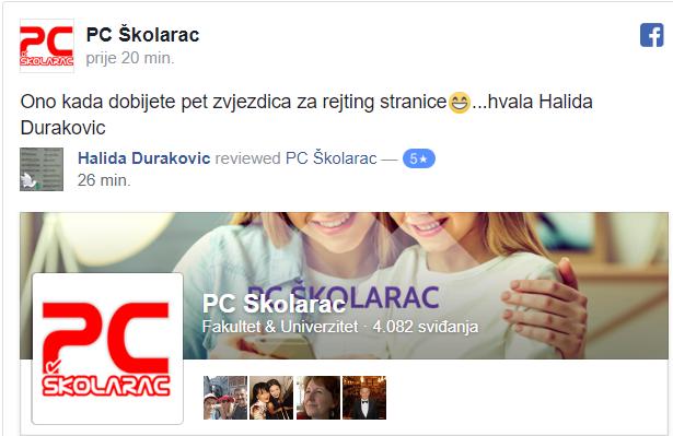 REJTING 5 ZVJEZDICA ZA PC ŠKOLARAC!!!