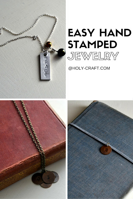 Easy to make hand stamped jewelry even a beginner can make