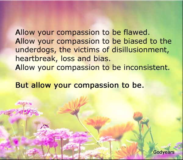 Allow Your compassion to be flawed