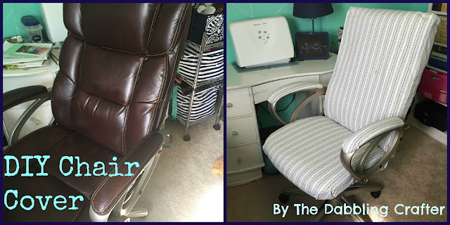 The Dabbling Crafter: DIY Sunday: Office Chair Cover