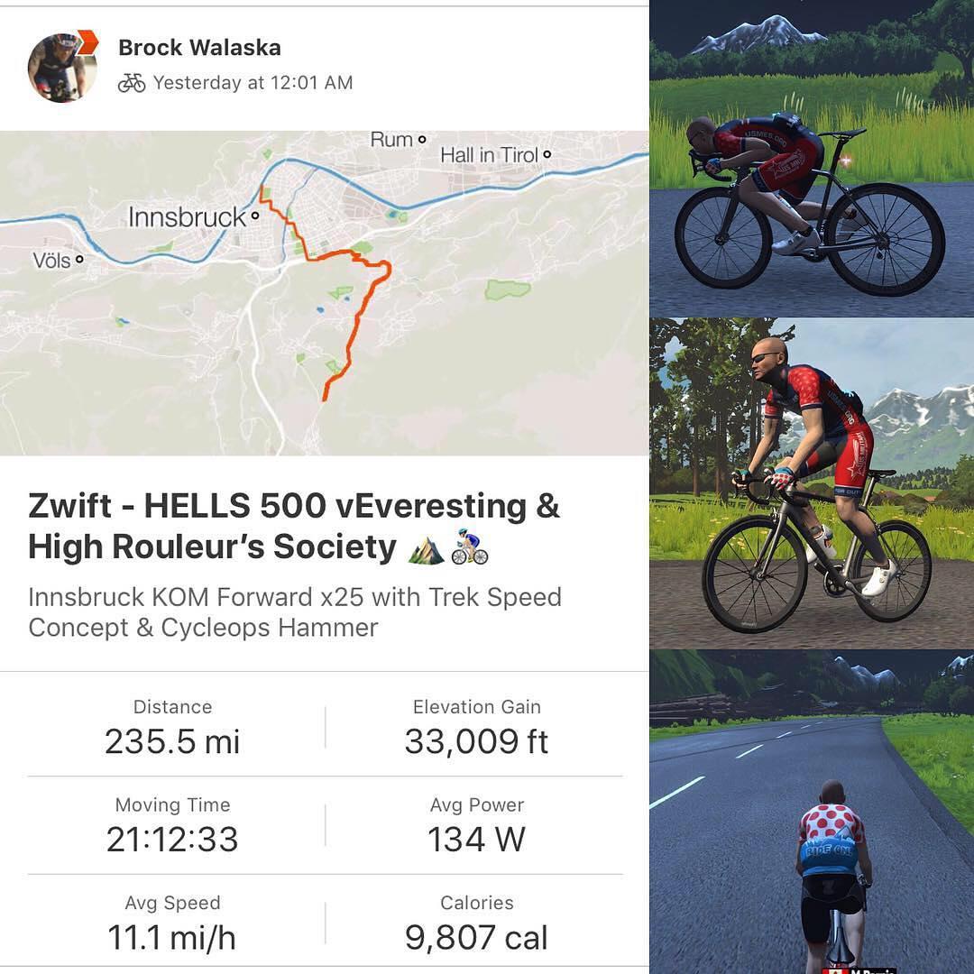 Brock Walaska: Zwift - Hells 500 and High Rouleur's Society