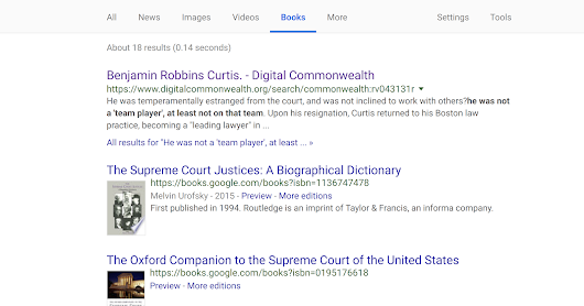 Google Books and the open web.