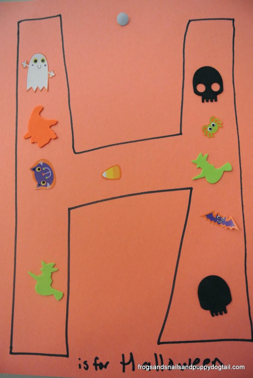 Halloween Sensory Bin And Learning Letter H