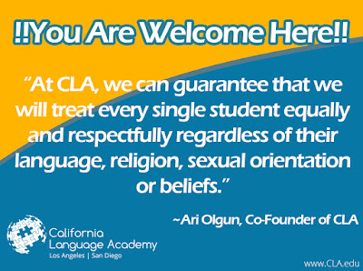 From California Language Academy You Are Welcome Here
