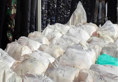 Navy Seize Cocaine Hidden In Bags of Rice