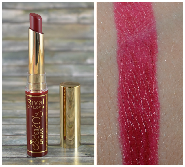 Rival de Loop The Golden 20's LE Lipstick 01 dark red und Swatch