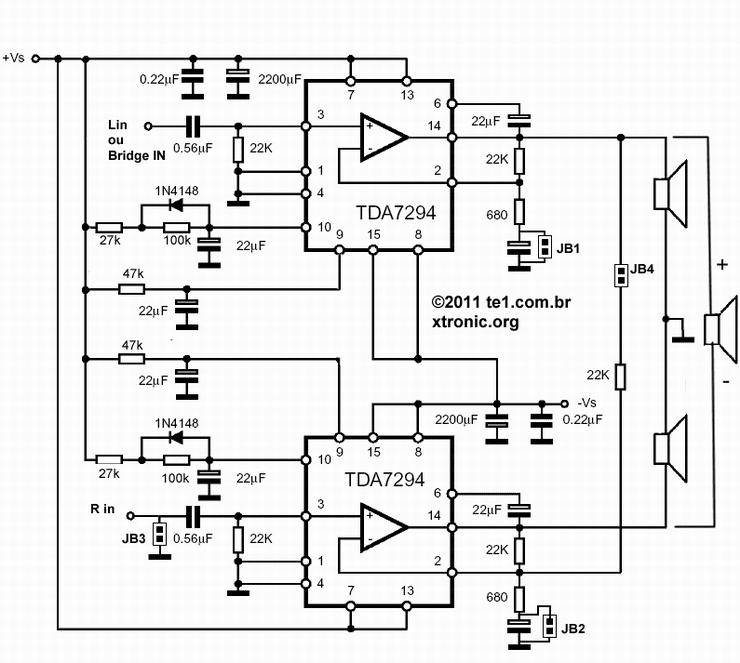 amplifiercircuits com  tda7294